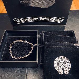 Chrome Hearts Cemetery Bracelet W/Black Stones 925